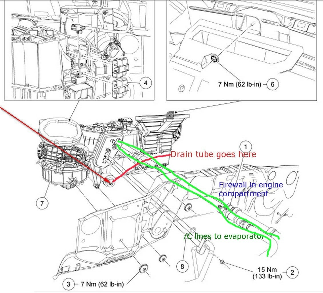 2001 ford f150 engine diagram 97 expedition wiring f 150 questions where is the ac condensate drain tube located