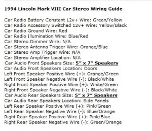 Lincoln Mark VIII Questions  Change tape deck to cd