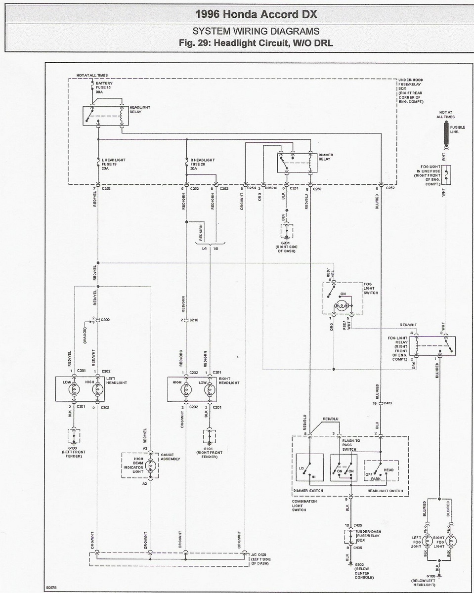 medium resolution of 96 accord headlight schematic