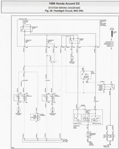 small resolution of 96 accord headlight schematic
