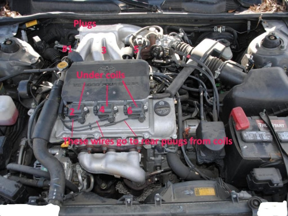 medium resolution of click for full screen for diy how to change spark plugs i know it says camry but is same