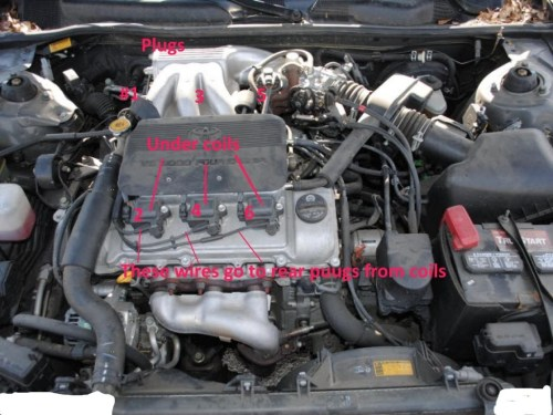 small resolution of click for full screen for diy how to change spark plugs i know it says camry but is same