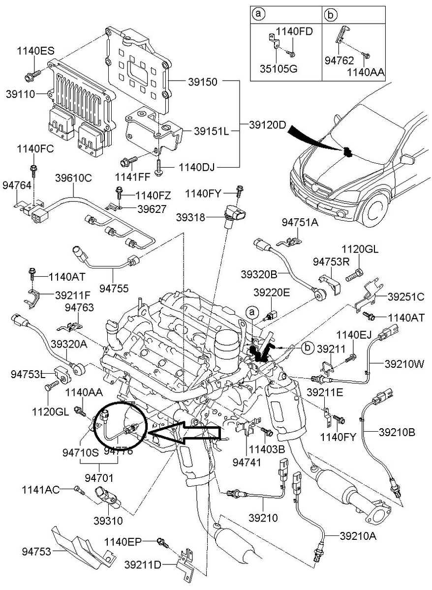 Kium Rio Sedona Sorento Engine Diagram