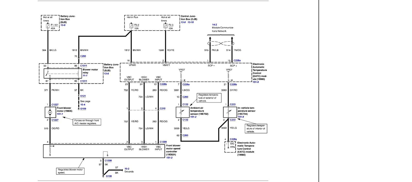 1996 mercury grand marquis heater wiring diagram