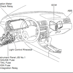 1999 Nissan Altima Radio Wiring Diagram Labelled Of A Crab Toyota Camry Questions - Where Is The Ecu Located In 97 Camry? Cargurus
