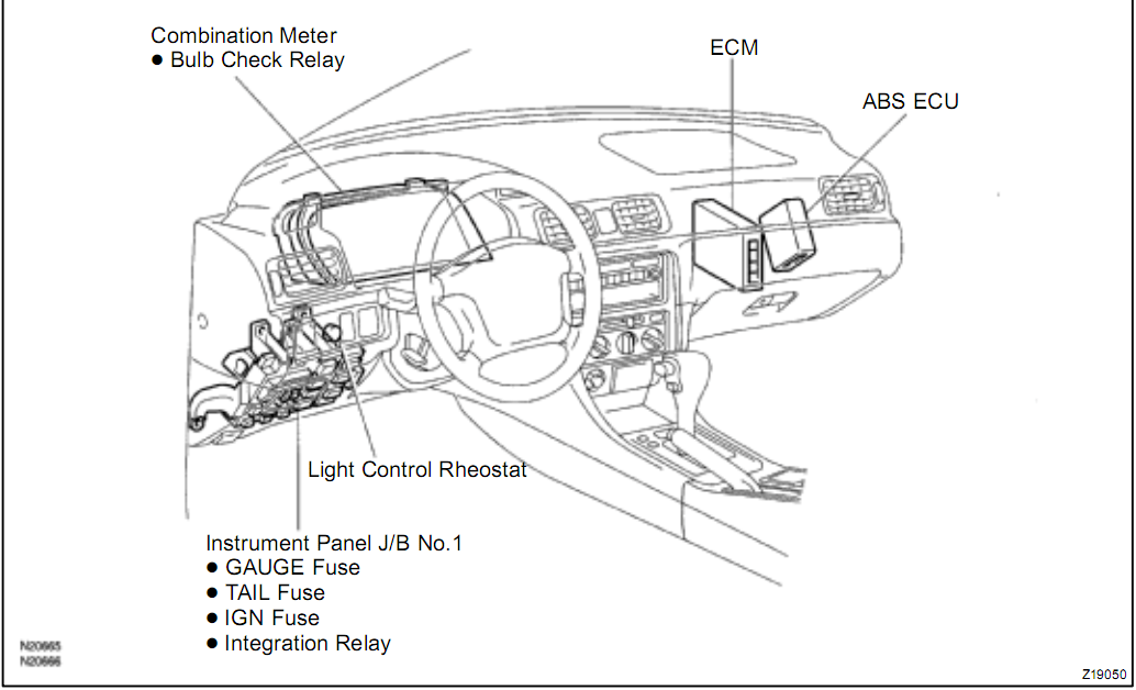 2006 toyota tundra radio wiring diagram smart car alternator camry questions - where is the ecu located in 97 camry? cargurus