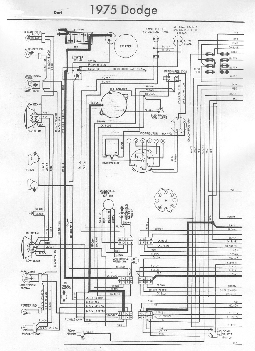 medium resolution of 1973 charger wiring diagram wiring library 1973 dodge dart wiring harness