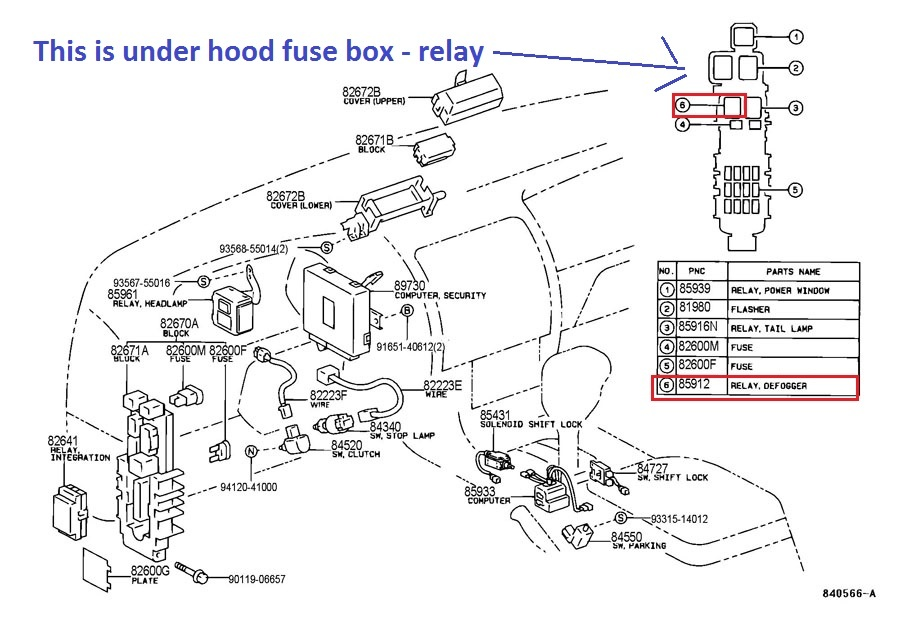 1996 Honda Passport Fuse Box Diagram Toyota Corolla Questions Where Is The Rear Window
