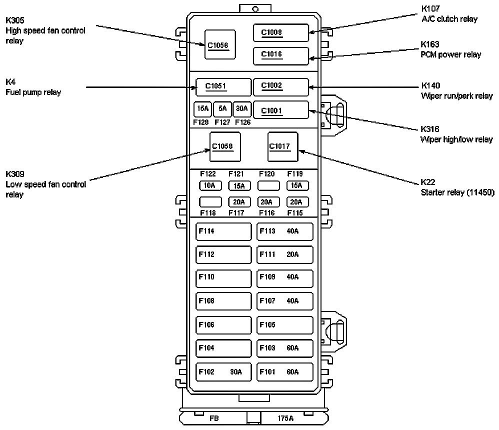 hight resolution of 2001 ford e150 fuse box diagram