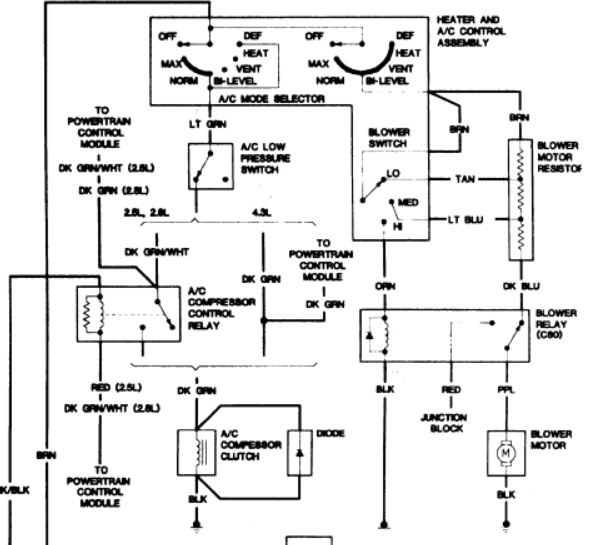 s10 trailer wiring diagram as well 96 chevy s10 blower motor relay