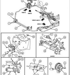 17 3c510 power steering hose bracket 18 n605893 s301 screw 19 3f540 steering shaft u joint shield a tighten to 9 12 n m 80 106 lb in b tighten  [ 807 x 1024 Pixel ]