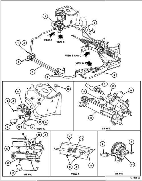 small resolution of  17 3c510 power steering hose bracket 18 n605893 s301 screw 19 3f540 steering shaft u joint shield a tighten to 9 12 n m 80 106 lb in b tighten