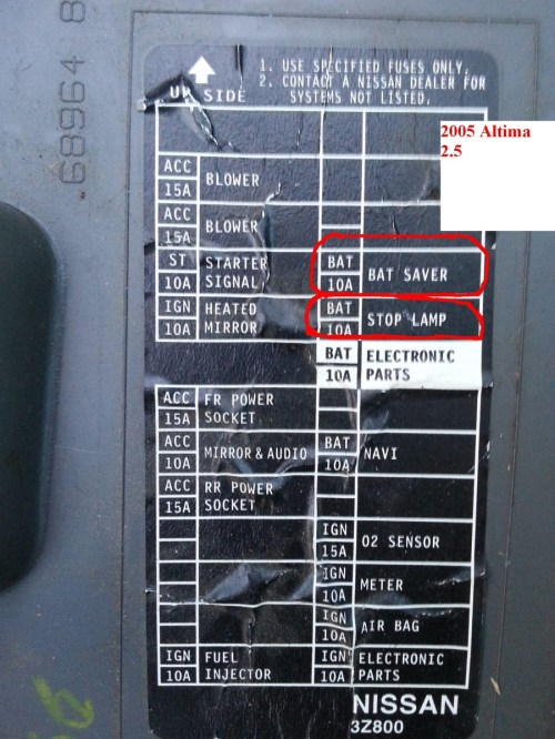 small resolution of 2012 nissan altima fuse box diagram