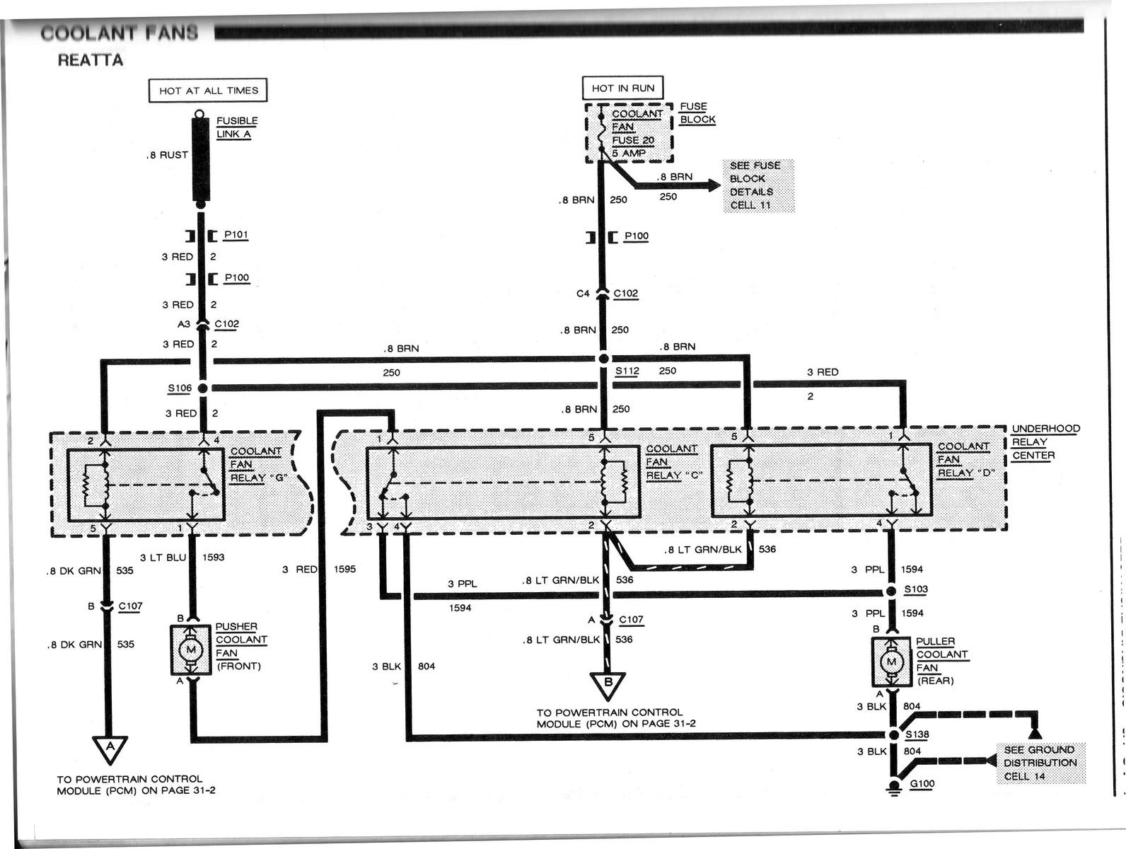 Cooling Fan Wiring Diagram 1995 Buick Riviera • Wiring