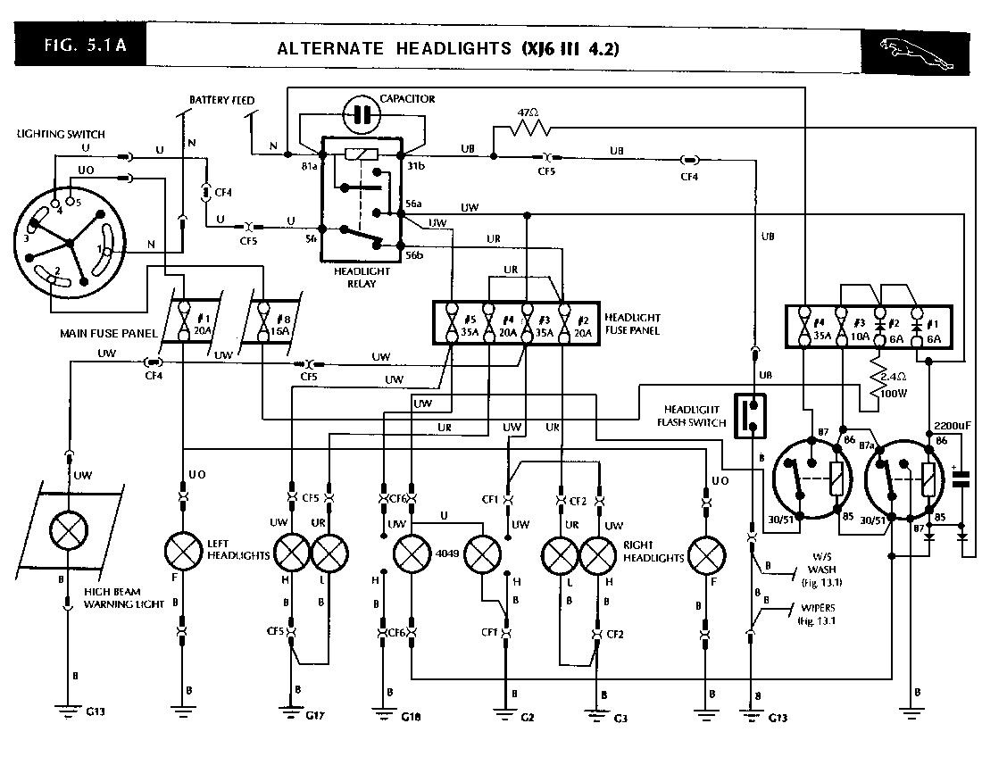 jaguar xj6 series 2 wiring diagram