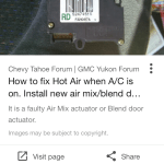Gmc Yukon Questions Why Does My Ac Suddenly Start Blowing Hot Air Cargurus