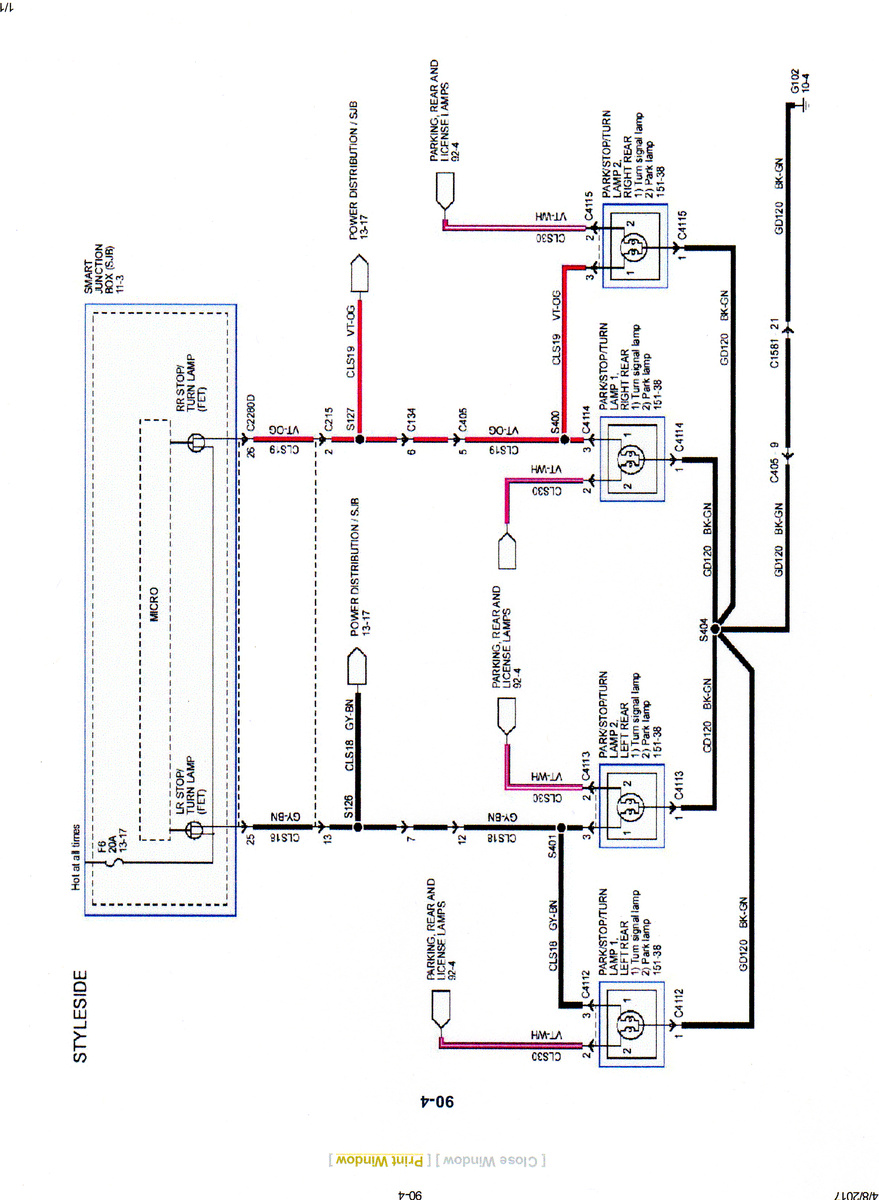 medium resolution of 2007 f150 trailer wiring diagram wiring diagram centre 2007 ford f 150 running light wiring diagram