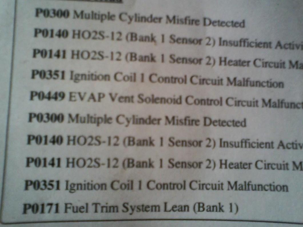 Flashing Check Engine Light 2003 Chevy Trailblazer Saturn Vue Bank 1 Sensor 2 Location Chevrolet Silverado 1500 Questions I Recently Change My O2