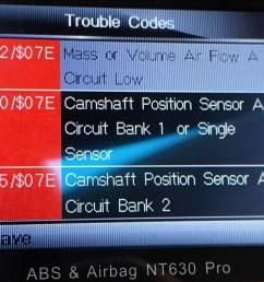 p0340 07e camshaft position sensor a circuit bank 1 or single sensor p0345 07e camshaft position sensor a circuit bank 2 or single sensor  [ 1600 x 1200 Pixel ]