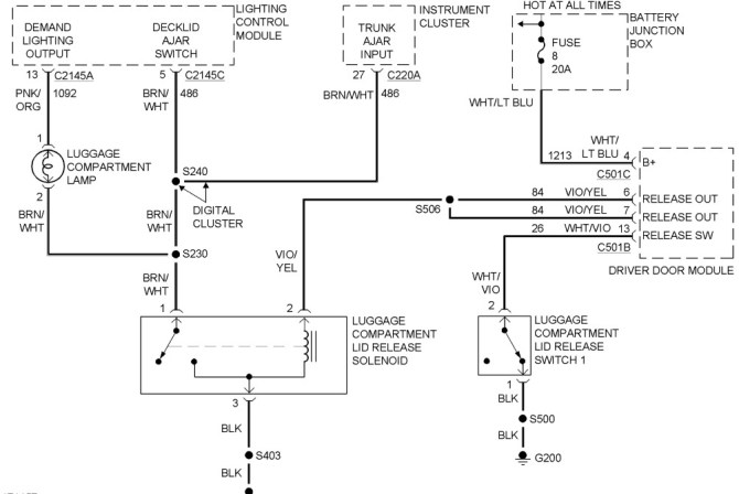 2003 mercury grand marquis wiring diagrams  description