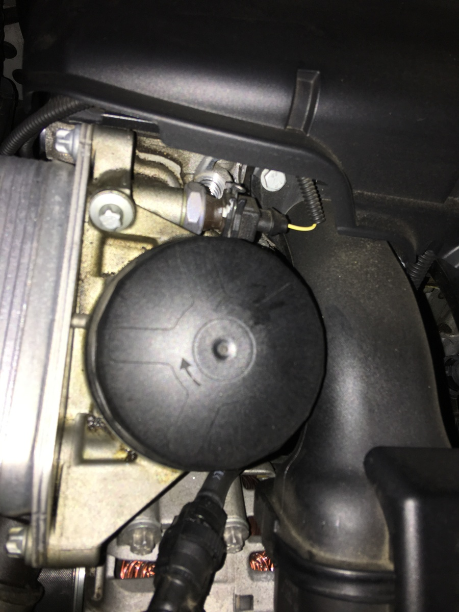 medium resolution of missing screw from bmw 2010 528i near oil filter see photo