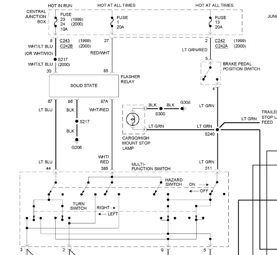 electrical wiring diagram light switch 96 jeep grand cherokee fuel pump ford f 250 super duty questions no power for brake lights at the 5 answers