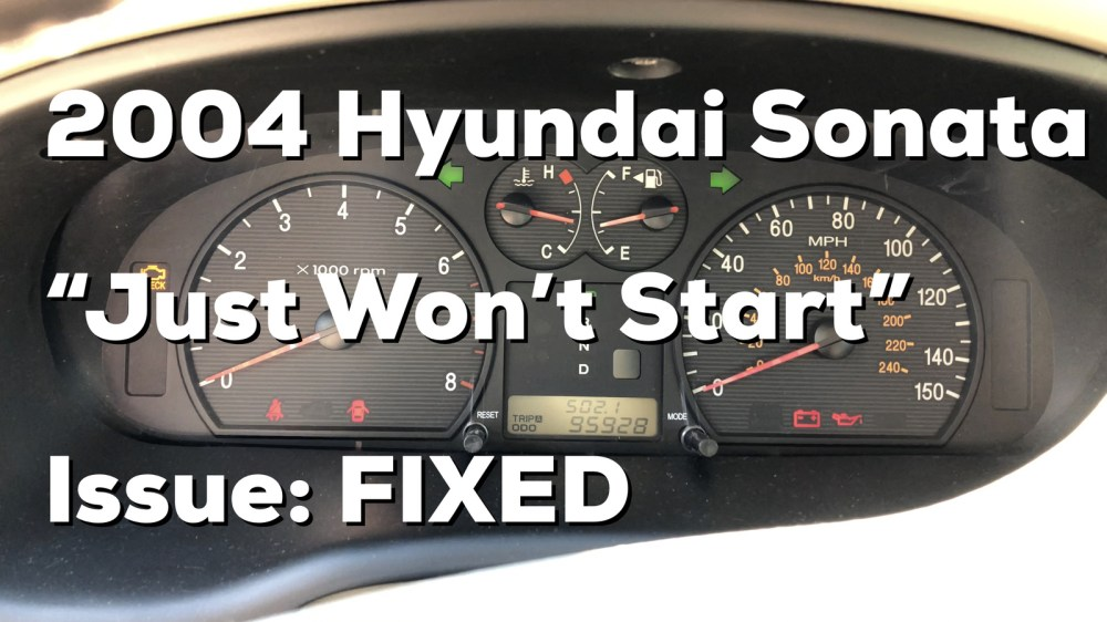 medium resolution of  2004 hyundai sonata intermittent start issue https youtu be muqrstexico if the link to the video doesn t work search for user nperspective on