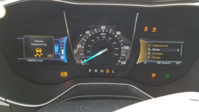 2010 Ford Fusion Dash Warning Lights