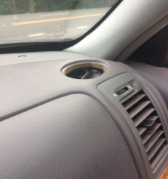 a piece of my top vent in my dash shattered and fell into it how do i get it out [ 900 x 1200 Pixel ]