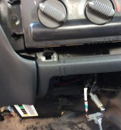 i took a part the speedometer console and center console to find my prize silly me i thought it would be over near the fuse box  [ 896 x 1200 Pixel ]