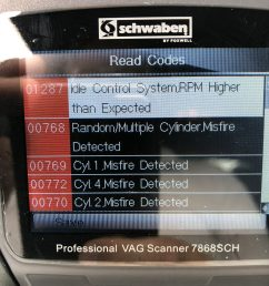 hi i got a vw mk5 gti and the epc check engine turns on yesterday y check with my scanner and found all this codes talked to my mechanic and he says it  [ 900 x 1200 Pixel ]
