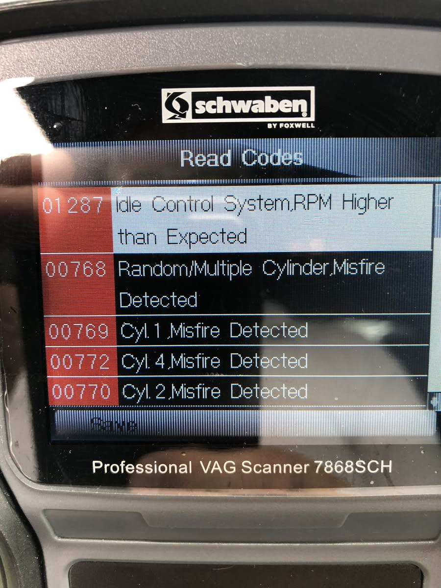 medium resolution of hi i got a vw mk5 gti and the epc check engine turns on yesterday y check with my scanner and found all this codes talked to my mechanic and he says it
