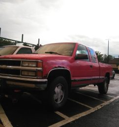 this is the 1996 red i m not fully sure which it is my insurance place said it was the sport utility ext cab and it has the 5 7 and it s z71 4x4 2 wheel  [ 1600 x 1200 Pixel ]