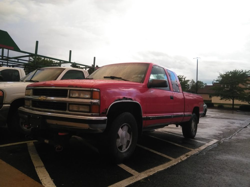 medium resolution of this is the 1996 red i m not fully sure which it is my insurance place said it was the sport utility ext cab and it has the 5 7 and it s z71 4x4 2 wheel