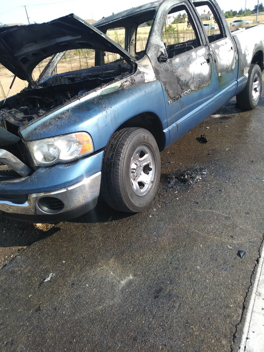 hight resolution of a friend of mine truck caught on fire yesterday for no reason
