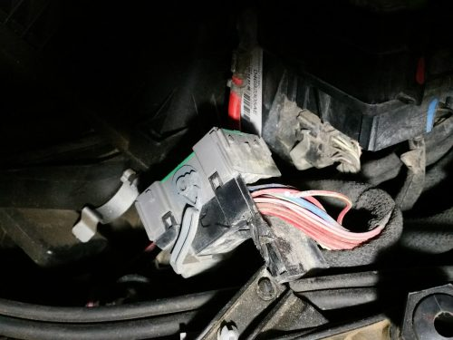 small resolution of  connector in the module in behind the drivers door panel if it doesn t light check the wire at the grey connector under fuse panel box under hood