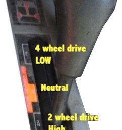 without pausing in transfer case neutral that is only for towing to go between 2high or 4 high be moving and just ease off throttle when selecting  [ 662 x 1200 Pixel ]