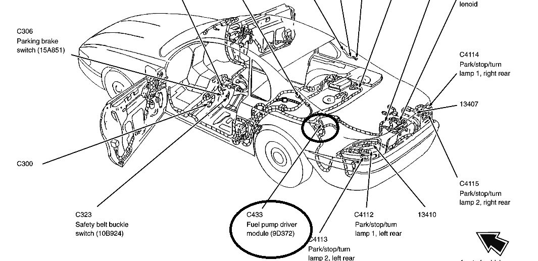 Car Complaints: 2001 mustang fuel pump relay location