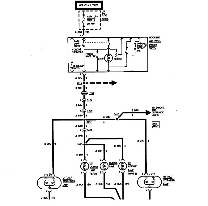 Fuse Box Diagram 1995 Chevrolet Caprice Clic Wiring