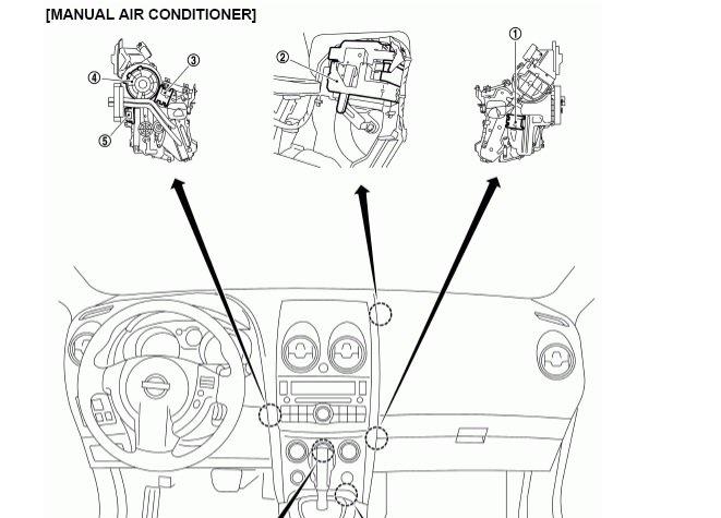 2014 Nissan Altima Blower Motor Resistor Location