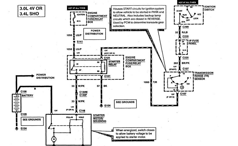 Bestseller: 1997 Ford Taurus Engine Wiring Harness Diagram