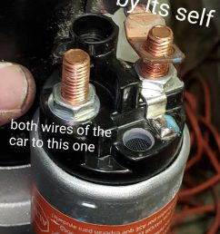 the starter wires wrong now everything is working fine p s starter wires from car goes to one pin with nut the other pin by it self [ 675 x 1200 Pixel ]