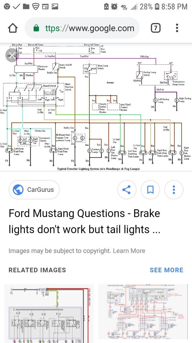 medium resolution of 2004 mustang tail light fuse diagram wiring diagrams wni 2000 mustang brake light fuse wiring schematic