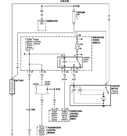 2000 dodge grand caravan ignition wiring diagram  2002