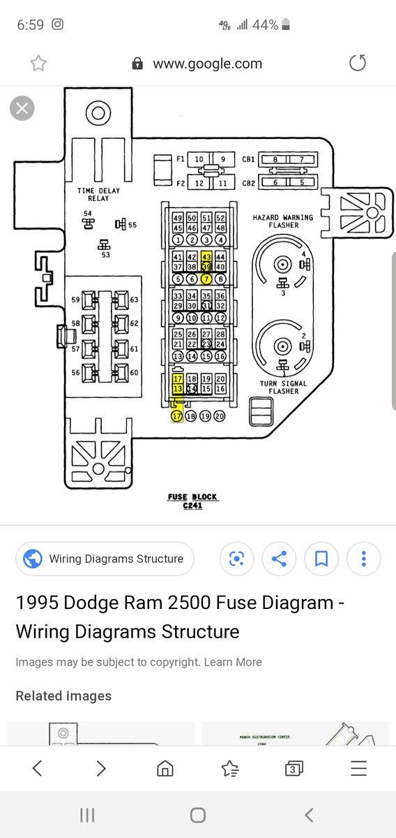 2001 Dodge Ram 1500 Fuse Box Diagram