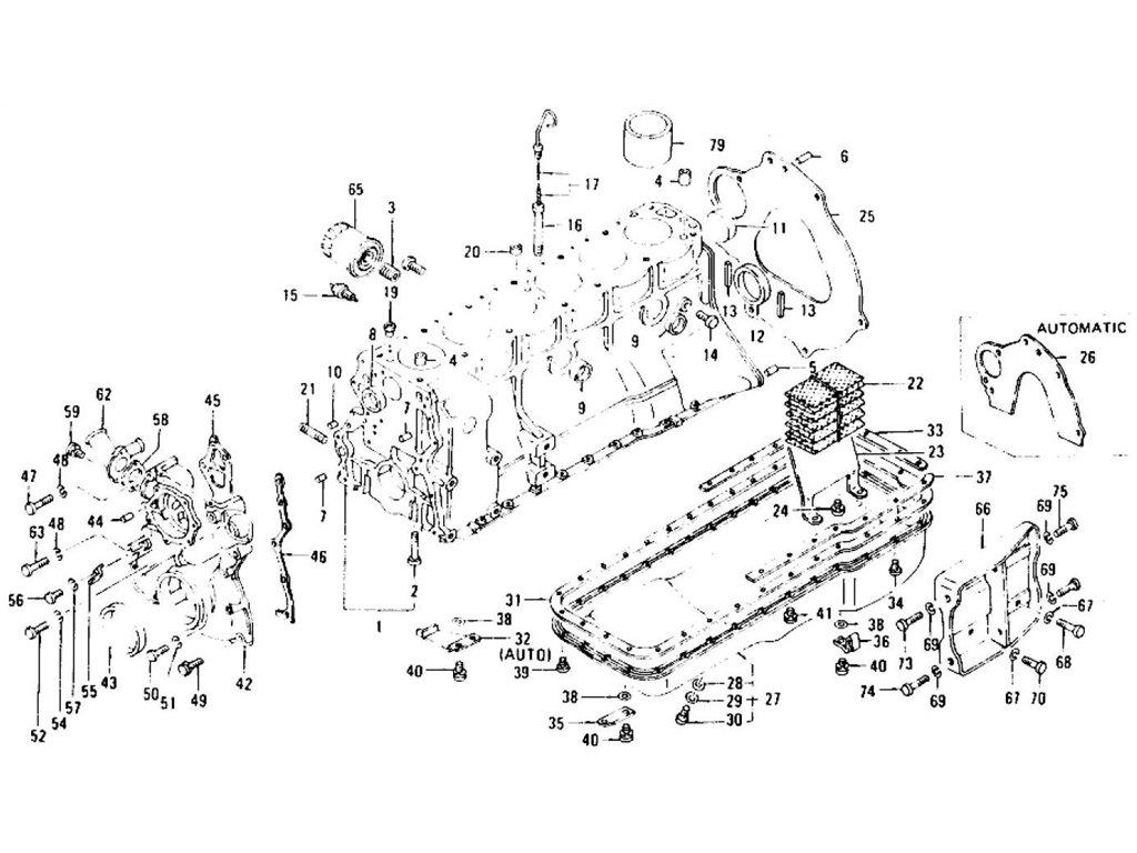 Datsun Z Cylinder Block Amp Fitting L24 L26 To Nov 74