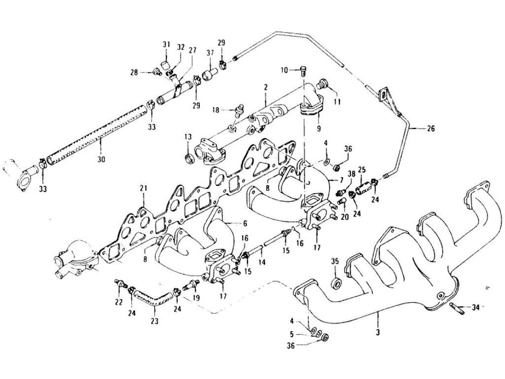 Datsun Z Manifold L24, L26 (To Jun.-'72)