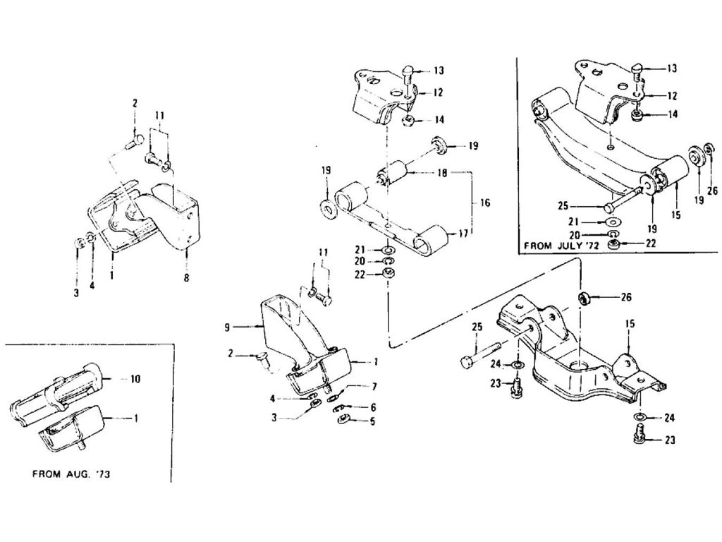 Datsun Z Engine Mounting (Manual From C/# HLS30-46001
