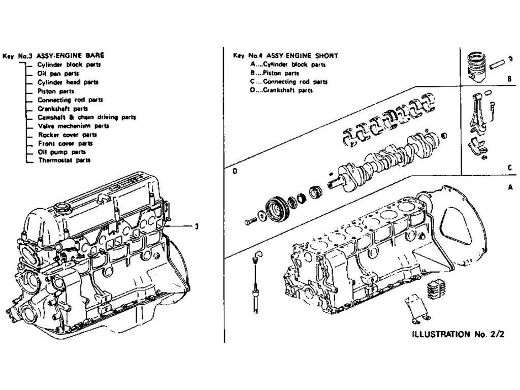Datsun Z Engine Assembly L28E