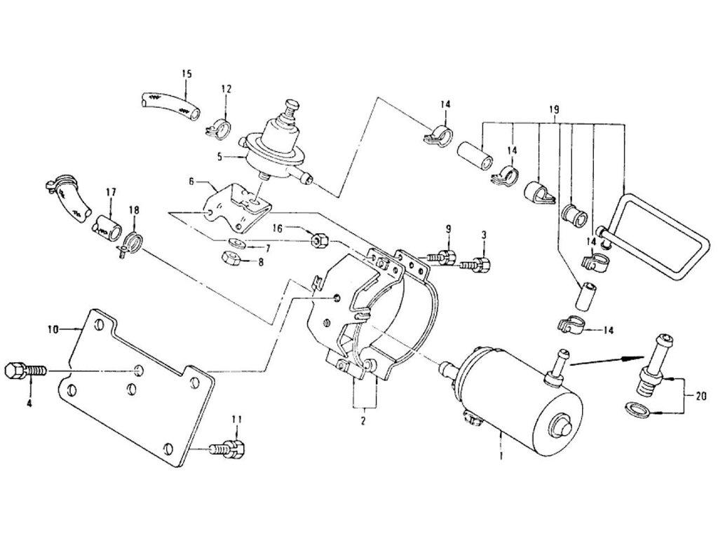 Datsun Z Fuel Pump & Fuel Hose L28E (From Aug.-'76)